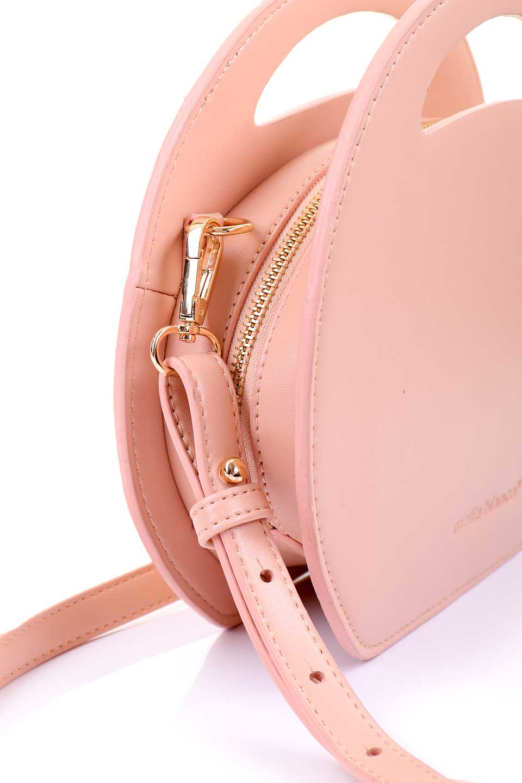 meliebiancoのCarelle(Blush)/海外ファッション好きにオススメのインポートバッグ、MelieBianco(メリービアンコ)のバッグやショルダーバッグ。小ぶりで可愛いショルダーバッグ。ラウンドタイプのショルダーバッグはファッションのジャンルを問わず安定した人気があります。/main-10