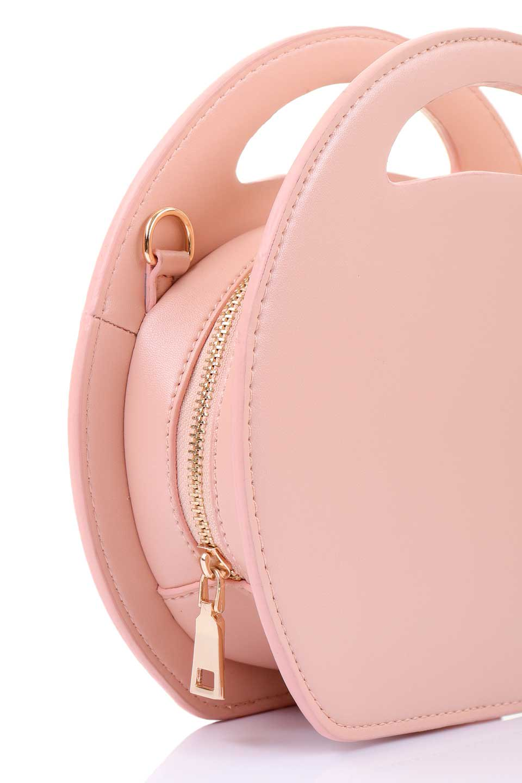 meliebiancoのCarelle(Blush)ラウンドショルダーバッグ/海外ファッション好きにオススメのインポートバッグとかばん、MelieBianco(メリービアンコ)のバッグやショルダーバッグ。小ぶりで可愛いショルダーバッグ。ラウンドタイプのショルダーバッグはファッションのジャンルを問わず安定した人気があります。/main-6
