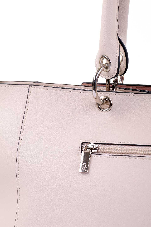 meliebiancoのCarter(Bone)/海外ファッション好きにオススメのインポートバッグとかばん、MelieBianco(メリービアンコ)のバッグやトートバッグ。小物入れが付いた程よいサイズ感のトートバッグ。正面についたポーチがバイカラーのアクセントになった可愛いデザインです。/main-9