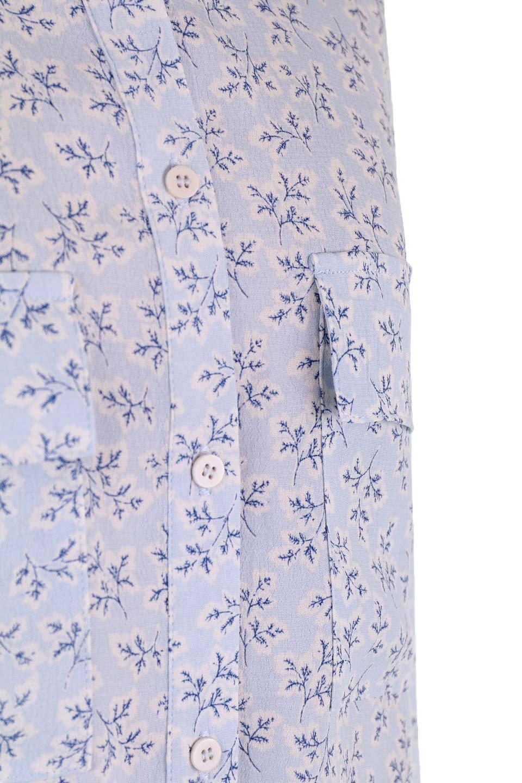 DebyDeboのTopCaprina/DebyDebo(デビーデボ)のトップスやシャツ・ブラウス。春のコーディネートに是非取り入れたいフェミニンな長袖シャツ。淡いブルーに派手すぎない総柄が繊細で華奢な印象です。/main-11