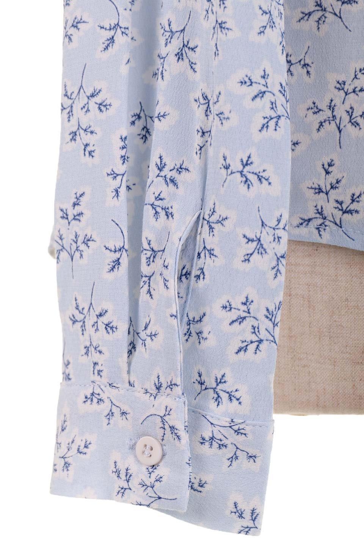 DebyDeboのTopCaprina/DebyDebo(デビーデボ)のトップスやシャツ・ブラウス。春のコーディネートに是非取り入れたいフェミニンな長袖シャツ。淡いブルーに派手すぎない総柄が繊細で華奢な印象です。/main-12