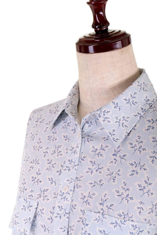DebyDeboのTopCaprina/DebyDebo(デビーデボ)のトップスやシャツ・ブラウス。春のコーディネートに是非取り入れたいフェミニンな長袖シャツ。淡いブルーに派手すぎない総柄が繊細で華奢な印象です。/main-8