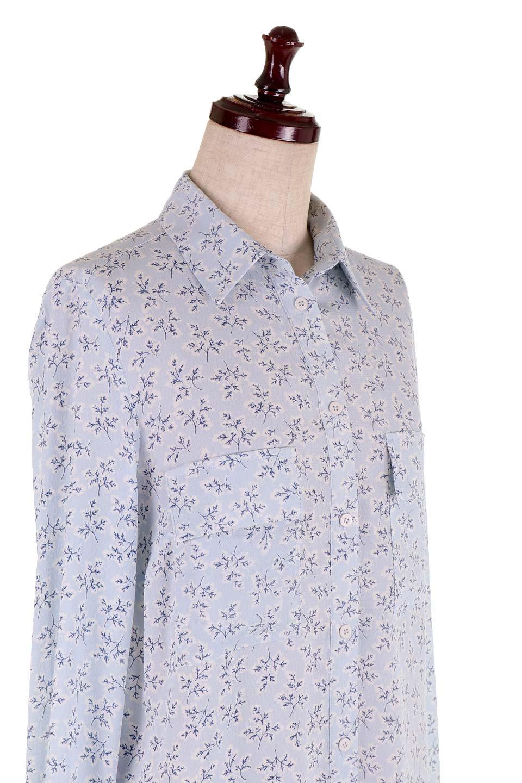 DebyDeboのTopCaprina/DebyDebo(デビーデボ)のトップスやシャツ・ブラウス。春のコーディネートに是非取り入れたいフェミニンな長袖シャツ。淡いブルーに派手すぎない総柄が繊細で華奢な印象です。/main-9