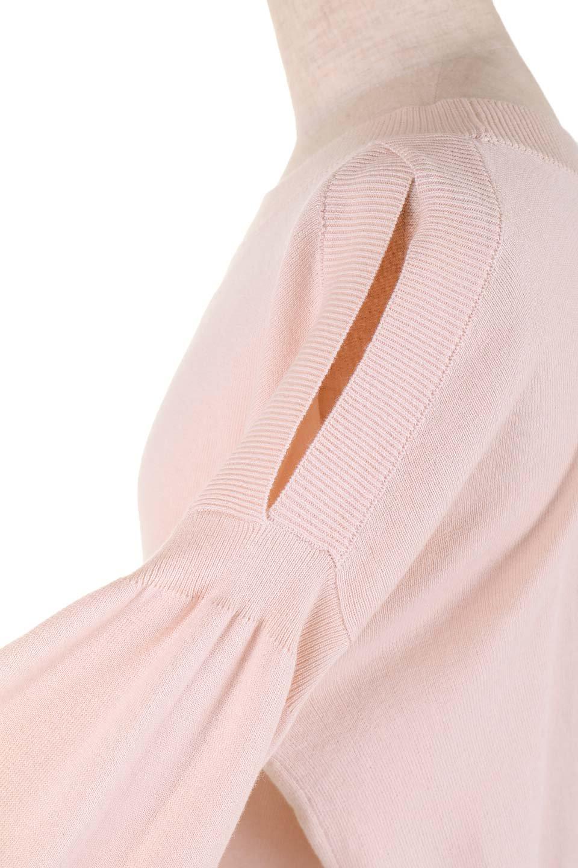 DebyDeboのPullAline/DebyDebo(デビーデボ)のトップスやニット・セーター。春先に大活躍しそうなパフスリーブのニット。薄手でソフトな淡いペールピンクの春ニットです。/main-10