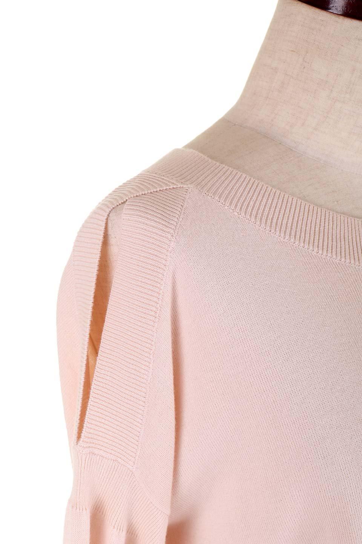 DebyDeboのPullAline/DebyDebo(デビーデボ)のトップスやニット・セーター。春先に大活躍しそうなパフスリーブのニット。薄手でソフトな淡いペールピンクの春ニットです。/main-11