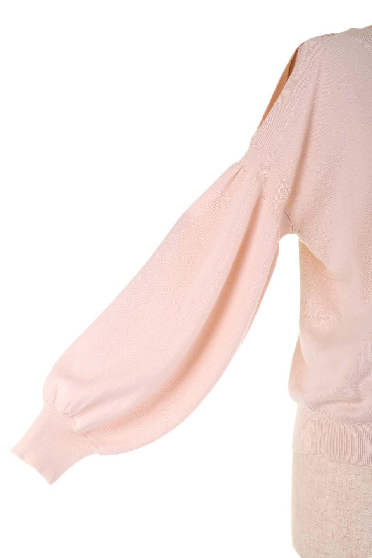 DebyDeboのPullAline/DebyDebo(デビーデボ)のトップスやニット・セーター。春先に大活躍しそうなパフスリーブのニット。薄手でソフトな淡いペールピンクの春ニットです。/main-12