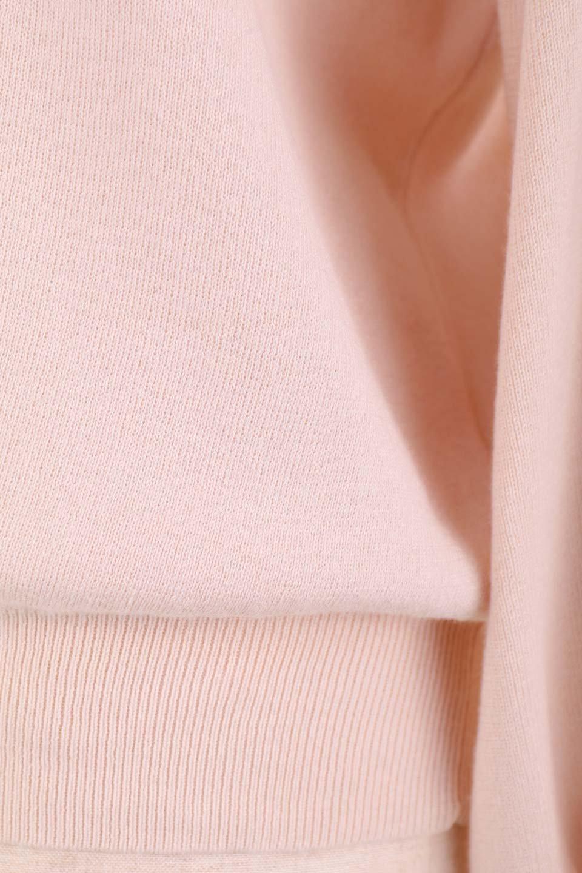 DebyDeboのPullAline/DebyDebo(デビーデボ)のトップスやニット・セーター。春先に大活躍しそうなパフスリーブのニット。薄手でソフトな淡いペールピンクの春ニットです。/main-13