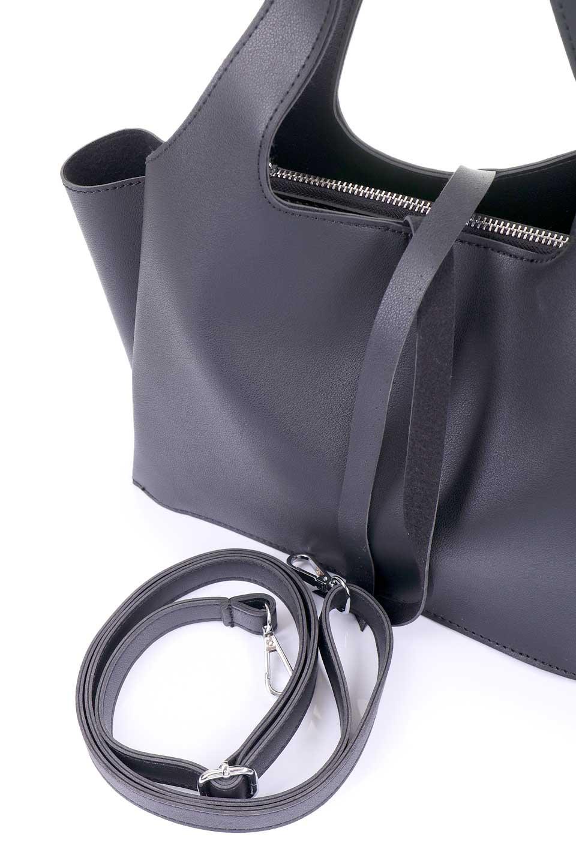 meliebiancoのSuzette(Black)/海外ファッション好きにオススメのインポートバッグとかばん、MelieBianco(メリービアンコ)のバッグやハンドバッグ。コンパクトながら荷物の整理に適した便利なハンドバッグ。メインの荷室の他に大きなサイドポケットが付いています。/main-11