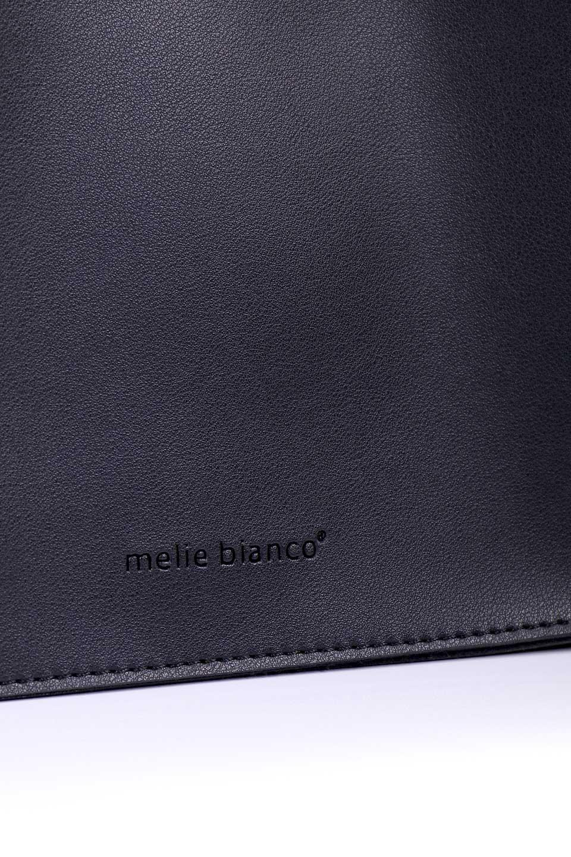 meliebiancoのSuzette(Black)/海外ファッション好きにオススメのインポートバッグとかばん、MelieBianco(メリービアンコ)のバッグやハンドバッグ。コンパクトながら荷物の整理に適した便利なハンドバッグ。メインの荷室の他に大きなサイドポケットが付いています。/main-7