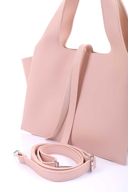 meliebiancoのSuzette(Blush)/海外ファッション好きにオススメのインポートバッグとかばん、MelieBianco(メリービアンコ)のバッグやハンドバッグ。コンパクトながら荷物の整理に適した便利なハンドバッグ。メインの荷室の他に大きなサイドポケットが付いています。/main-11
