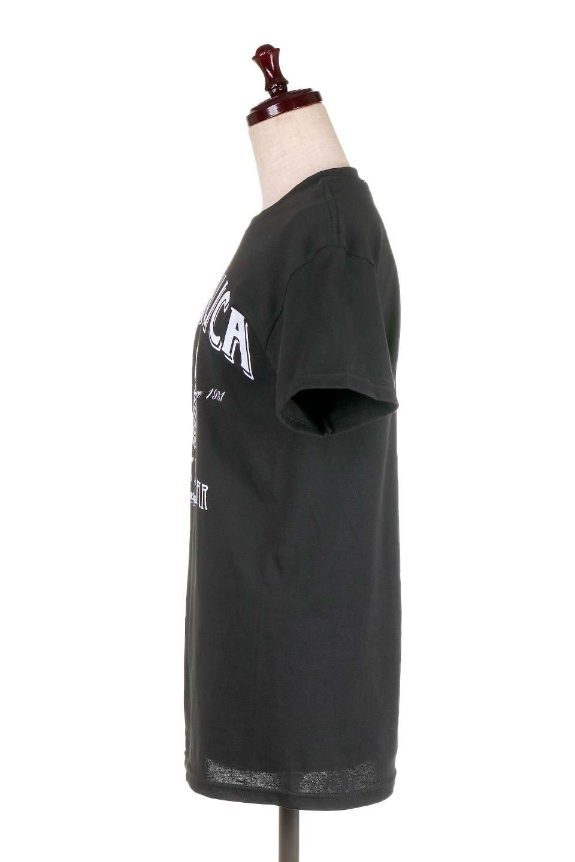 MetallicaWhiskeyLabel大人カジュアルに最適な海外ファッションのothers(その他インポートアイテム)のトップスやTシャツ。フェススタイルから普段着まで、デニムショーツやマキシスカート、組み合わせには困らないバンドT。女性に合わせやすいようにメンズサイズのSをセレクト。/main-2