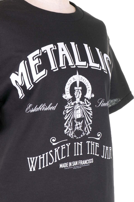 MetallicaWhiskeyLabel大人カジュアルに最適な海外ファッションのothers(その他インポートアイテム)のトップスやTシャツ。フェススタイルから普段着まで、デニムショーツやマキシスカート、組み合わせには困らないバンドT。女性に合わせやすいようにメンズサイズのSをセレクト。/main-5