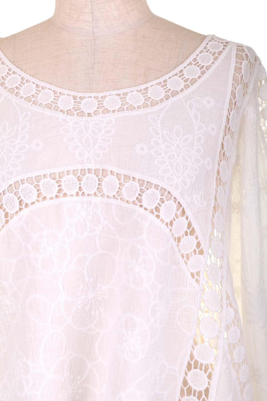 LOVESTITCHのBenjiTop/海外ファッションが好きな大人カジュアルのためのLOVESTITCH(ラブステッチ)のトップスやシャツ・ブラウス。全面に刺繍が施された7分袖のシースルーブラウス。ライン状のレースが可愛いデザインです。/main-11