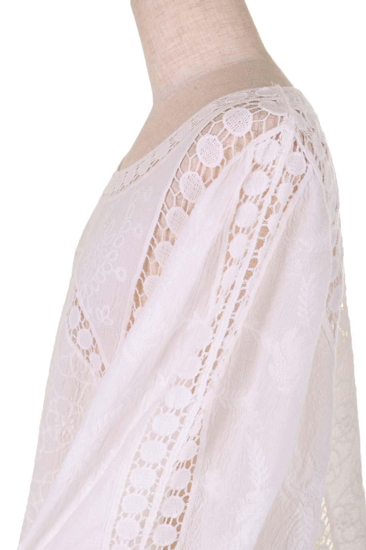 LOVESTITCHのBenjiTop/海外ファッションが好きな大人カジュアルのためのLOVESTITCH(ラブステッチ)のトップスやシャツ・ブラウス。全面に刺繍が施された7分袖のシースルーブラウス。ライン状のレースが可愛いデザインです。/main-12