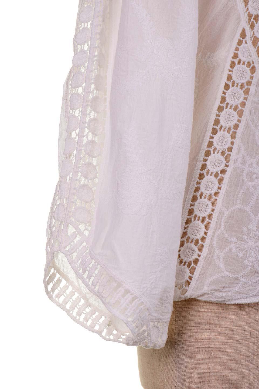 LOVESTITCHのBenjiTop/海外ファッションが好きな大人カジュアルのためのLOVESTITCH(ラブステッチ)のトップスやシャツ・ブラウス。全面に刺繍が施された7分袖のシースルーブラウス。ライン状のレースが可愛いデザインです。/main-14