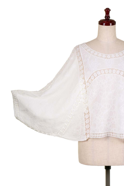 LOVESTITCHのBenjiTop/海外ファッションが好きな大人カジュアルのためのLOVESTITCH(ラブステッチ)のトップスやシャツ・ブラウス。全面に刺繍が施された7分袖のシースルーブラウス。ライン状のレースが可愛いデザインです。/main-9