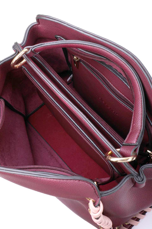 meliebiancoのDelisia(Burgundy)/海外ファッション好きにオススメのインポートバッグとかばん、MelieBianco(メリービアンコ)のバッグやハンドバッグ。バイカラーのアクセントが可愛いお手頃サイズのハンドバッグ。広い荷室は中央のポケットがパーテションになっています。/main-11