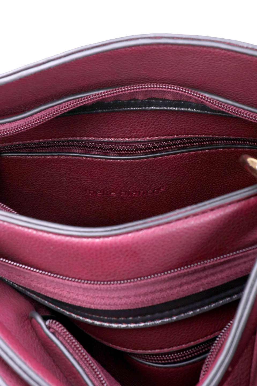 meliebiancoのDelisia(Burgundy)/海外ファッション好きにオススメのインポートバッグとかばん、MelieBianco(メリービアンコ)のバッグやハンドバッグ。バイカラーのアクセントが可愛いお手頃サイズのハンドバッグ。広い荷室は中央のポケットがパーテションになっています。/main-12