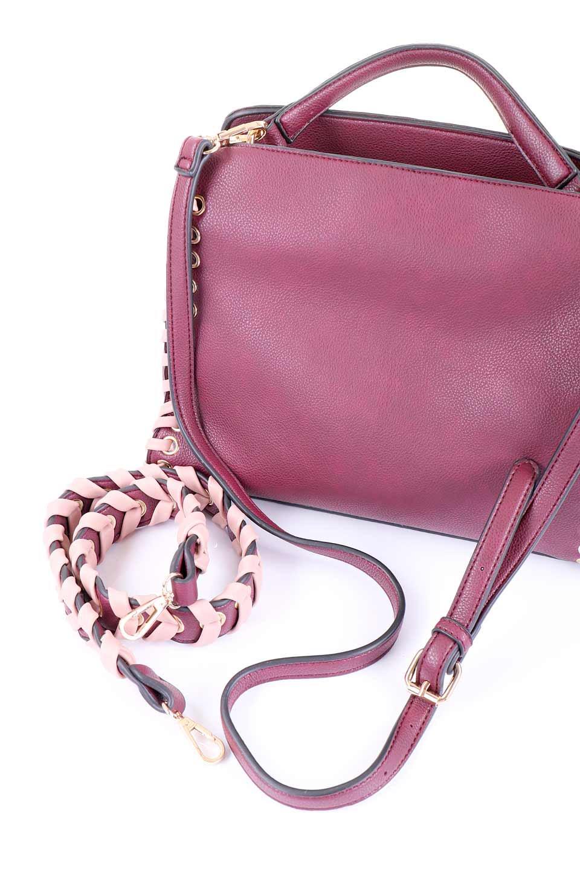 meliebiancoのDelisia(Burgundy)/海外ファッション好きにオススメのインポートバッグとかばん、MelieBianco(メリービアンコ)のバッグやハンドバッグ。バイカラーのアクセントが可愛いお手頃サイズのハンドバッグ。広い荷室は中央のポケットがパーテションになっています。/main-6