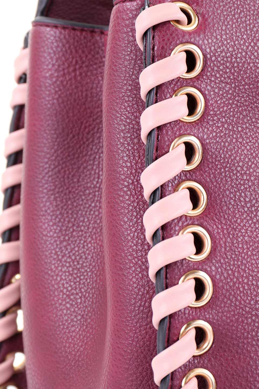 meliebiancoのDelisia(Burgundy)/海外ファッション好きにオススメのインポートバッグとかばん、MelieBianco(メリービアンコ)のバッグやハンドバッグ。バイカラーのアクセントが可愛いお手頃サイズのハンドバッグ。広い荷室は中央のポケットがパーテションになっています。/main-8