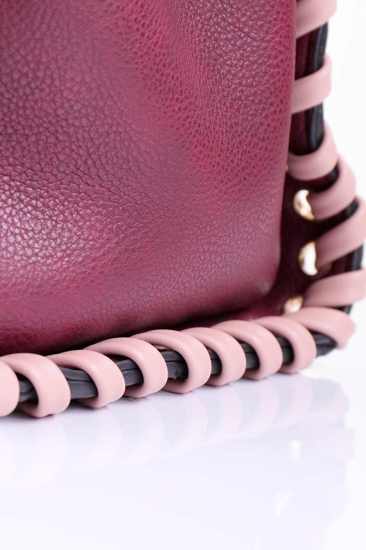 meliebiancoのDelisia(Burgundy)/海外ファッション好きにオススメのインポートバッグとかばん、MelieBianco(メリービアンコ)のバッグやハンドバッグ。バイカラーのアクセントが可愛いお手頃サイズのハンドバッグ。広い荷室は中央のポケットがパーテションになっています。/main-9