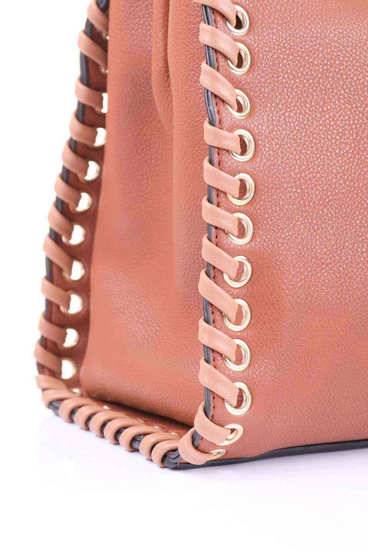 meliebiancoのDelisia(Saddle)2WAYハンドバッグ/海外ファッション好きにオススメのインポートバッグとかばん、MelieBianco(メリービアンコ)のバッグやハンドバッグ。バイカラーのアクセントが可愛いお手頃サイズのハンドバッグ。広い荷室は中央のポケットがパーテションになっています。/main-8