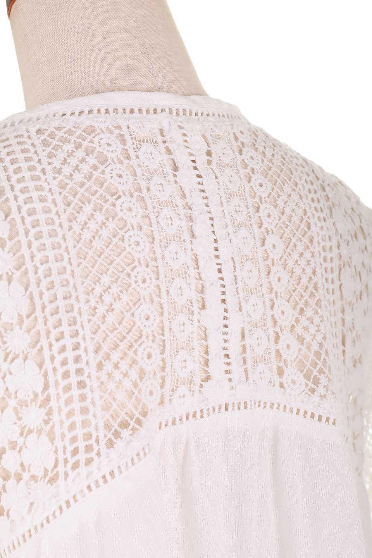 LOVESTITCHのAvaBlouse(OffWhite)ベルスリーブ・レースブラウス/海外ファッションが好きな大人カジュアルのためのLOVESTITCH(ラブステッチ)のトップスやシャツ・ブラウス。立体感のあるジャカート織とクロシェレースのブラウス。暑い夏の日でも涼しげな絶妙な袖の長さです。/main-11