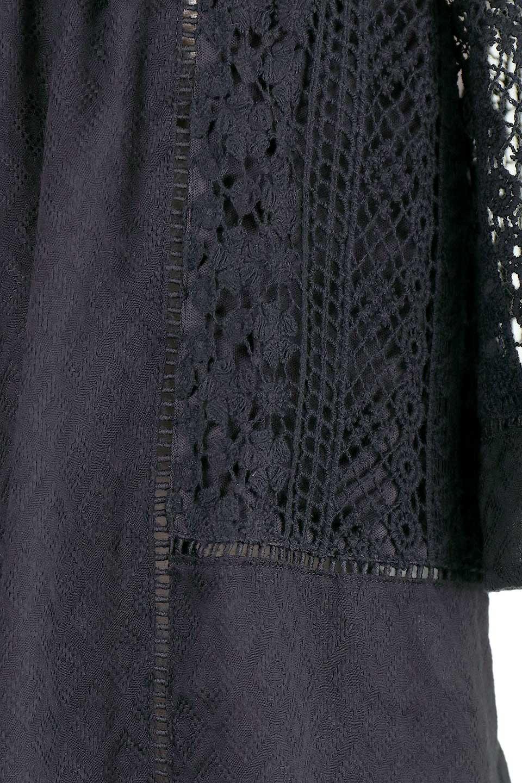 LOVESTITCHのLyndiTop(Black)オフショルダーブラウス/海外ファッションが好きな大人カジュアルのためのLOVESTITCH(ラブステッチ)のトップスやシャツ・ブラウス。立体感のあるジャカート織とクロシェレースを使用したオフショルトップス。ジャカートの部分はAvaBlouseと同じ高級感のある生地です。/main-12