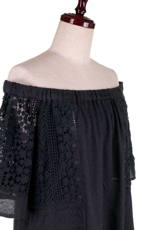LOVESTITCHのLyndiTop(Black)オフショルダーブラウス/海外ファッションが好きな大人カジュアルのためのLOVESTITCH(ラブステッチ)のトップスやシャツ・ブラウス。立体感のあるジャカート織とクロシェレースを使用したオフショルトップス。ジャカートの部分はAvaBlouseと同じ高級感のある生地です。/main-9