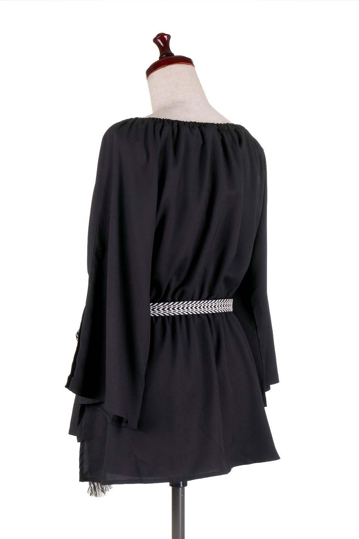 BellSleeveGeorgetteBlouseベルスリーブ・ジョーゼットブラウス大人カジュアルに最適な海外ファッションのothers(その他インポートアイテム)のトップスやシャツ・ブラウス。引き続き人気のオフショルダー。スリット入りのベルスリーブがヒラヒラと可愛いブラウスです。/main-13
