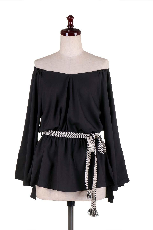 BellSleeveGeorgetteBlouseベルスリーブ・ジョーゼットブラウス大人カジュアルに最適な海外ファッションのothers(その他インポートアイテム)のトップスやシャツ・ブラウス。引き続き人気のオフショルダー。スリット入りのベルスリーブがヒラヒラと可愛いブラウスです。/main-15