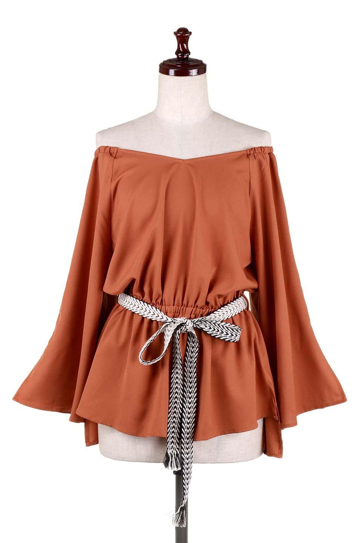BellSleeveGeorgetteBlouseベルスリーブ・ジョーゼットブラウス大人カジュアルに最適な海外ファッションのothers(その他インポートアイテム)のトップスやシャツ・ブラウス。引き続き人気のオフショルダー。スリット入りのベルスリーブがヒラヒラと可愛いブラウスです。/main-20