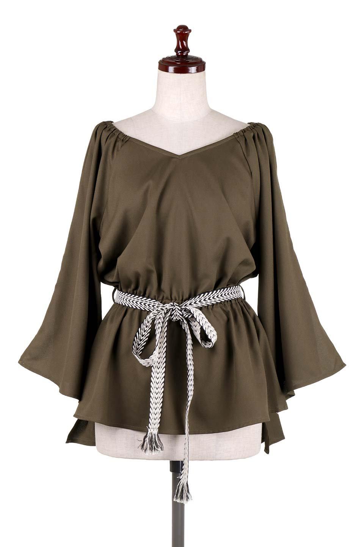 BellSleeveGeorgetteBlouseベルスリーブ・ジョーゼットブラウス大人カジュアルに最適な海外ファッションのothers(その他インポートアイテム)のトップスやシャツ・ブラウス。引き続き人気のオフショルダー。スリット入りのベルスリーブがヒラヒラと可愛いブラウスです。/main-25
