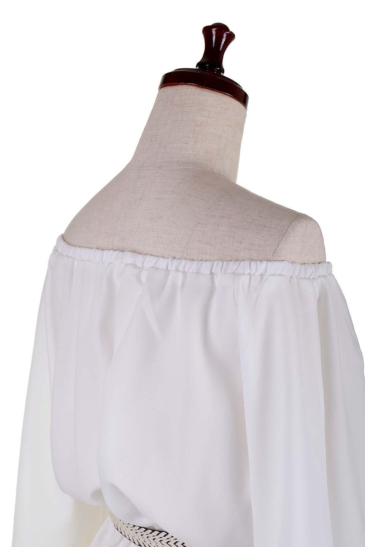 BellSleeveGeorgetteBlouseベルスリーブ・ジョーゼットブラウス大人カジュアルに最適な海外ファッションのothers(その他インポートアイテム)のトップスやシャツ・ブラウス。引き続き人気のオフショルダー。スリット入りのベルスリーブがヒラヒラと可愛いブラウスです。/main-7
