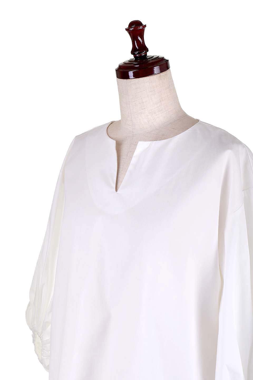 BalloonSleeveBlouseバルーンスリーブブラウス大人カジュアルに最適な海外ファッションのothers(その他インポートアイテム)のトップスやシャツ・ブラウス。たっぷりとしたバルーンスリーブが特報の7分袖ブラウス。50'sブロードを使用したナチュラルな素材感のアイテムです。/main-5