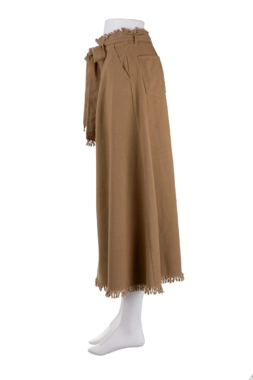 ShortFringeTuckSkirtミニフリンジ・ツイルスカート大人カジュアルに最適な海外ファッションのothers(その他インポートアイテム)のボトムやスカート。コットンツイルのベルト付きフリンジスカート。ウエストのゴム仕様が嬉しいカジュアルなスカートです。/main-12