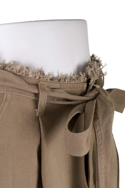 ShortFringeTuckSkirtミニフリンジ・ツイルスカート大人カジュアルに最適な海外ファッションのothers(その他インポートアイテム)のボトムやスカート。コットンツイルのベルト付きフリンジスカート。ウエストのゴム仕様が嬉しいカジュアルなスカートです。/main-5