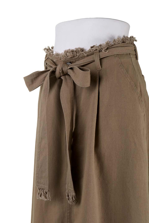 ShortFringeTuckSkirtミニフリンジ・ツイルスカート大人カジュアルに最適な海外ファッションのothers(その他インポートアイテム)のボトムやスカート。コットンツイルのベルト付きフリンジスカート。ウエストのゴム仕様が嬉しいカジュアルなスカートです。/main-6