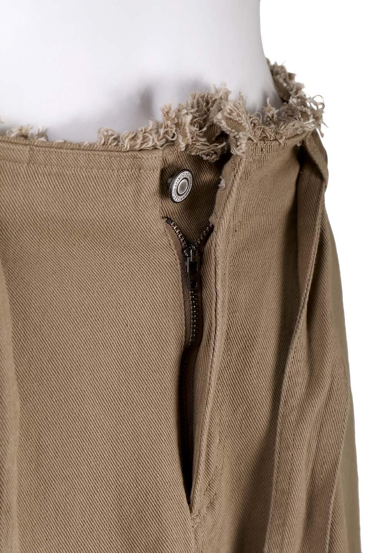 ShortFringeTuckSkirtミニフリンジ・ツイルスカート大人カジュアルに最適な海外ファッションのothers(その他インポートアイテム)のボトムやスカート。コットンツイルのベルト付きフリンジスカート。ウエストのゴム仕様が嬉しいカジュアルなスカートです。/main-7