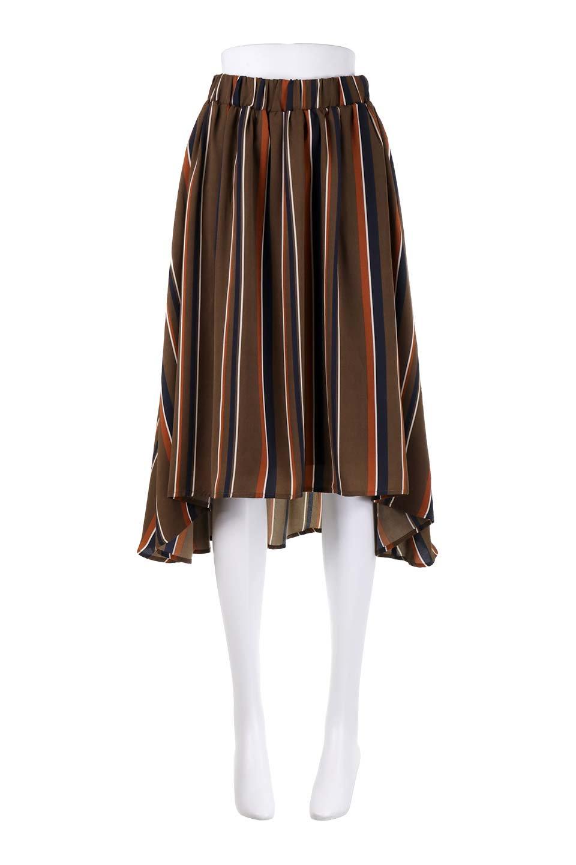 Multi-StripeFlaredSkirtマルチストライプ・スカート大人カジュアルに最適な海外ファッションのothers(その他インポートアイテム)のボトムやスカート。レトロな雰囲気のテールカットスカート。もはや定番人気のマルチストライプのアイテム。/main-10