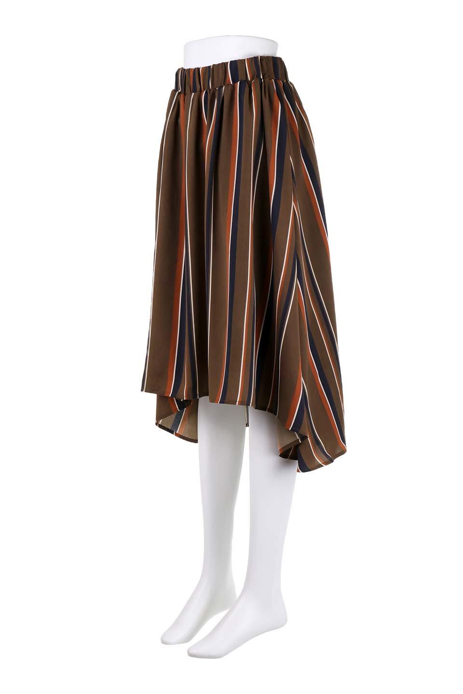 Multi-StripeFlaredSkirtマルチストライプ・スカート大人カジュアルに最適な海外ファッションのothers(その他インポートアイテム)のボトムやスカート。レトロな雰囲気のテールカットスカート。もはや定番人気のマルチストライプのアイテム。/main-11