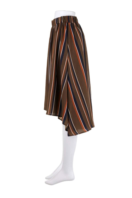 Multi-StripeFlaredSkirtマルチストライプ・スカート大人カジュアルに最適な海外ファッションのothers(その他インポートアイテム)のボトムやスカート。レトロな雰囲気のテールカットスカート。もはや定番人気のマルチストライプのアイテム。/main-12