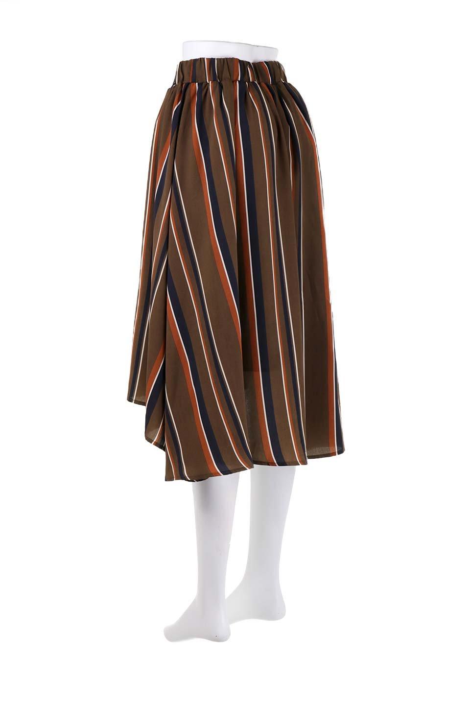 Multi-StripeFlaredSkirtマルチストライプ・スカート大人カジュアルに最適な海外ファッションのothers(その他インポートアイテム)のボトムやスカート。レトロな雰囲気のテールカットスカート。もはや定番人気のマルチストライプのアイテム。/main-13