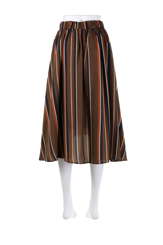 Multi-StripeFlaredSkirtマルチストライプ・スカート大人カジュアルに最適な海外ファッションのothers(その他インポートアイテム)のボトムやスカート。レトロな雰囲気のテールカットスカート。もはや定番人気のマルチストライプのアイテム。/main-14