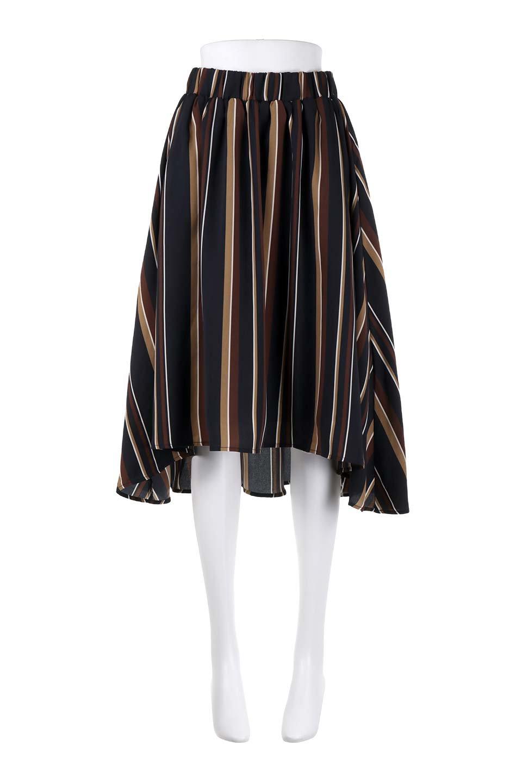 Multi-StripeFlaredSkirtマルチストライプ・スカート大人カジュアルに最適な海外ファッションのothers(その他インポートアイテム)のボトムやスカート。レトロな雰囲気のテールカットスカート。もはや定番人気のマルチストライプのアイテム。/main-15