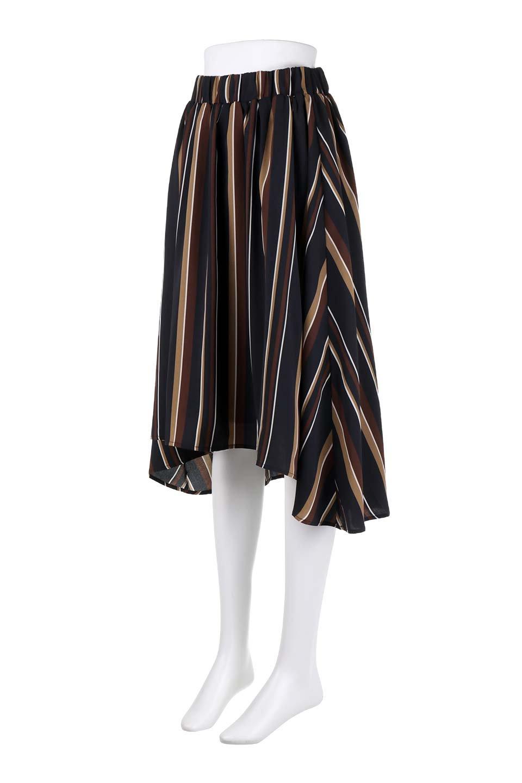 Multi-StripeFlaredSkirtマルチストライプ・スカート大人カジュアルに最適な海外ファッションのothers(その他インポートアイテム)のボトムやスカート。レトロな雰囲気のテールカットスカート。もはや定番人気のマルチストライプのアイテム。/main-16