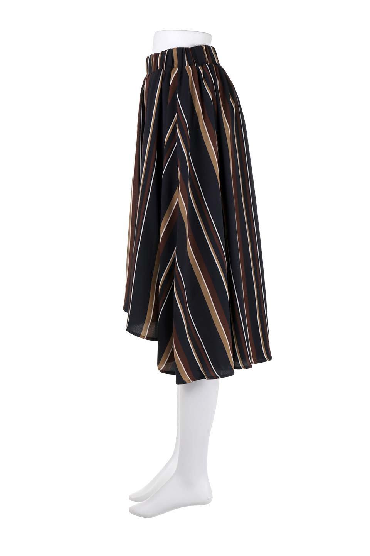 Multi-StripeFlaredSkirtマルチストライプ・スカート大人カジュアルに最適な海外ファッションのothers(その他インポートアイテム)のボトムやスカート。レトロな雰囲気のテールカットスカート。もはや定番人気のマルチストライプのアイテム。/main-17