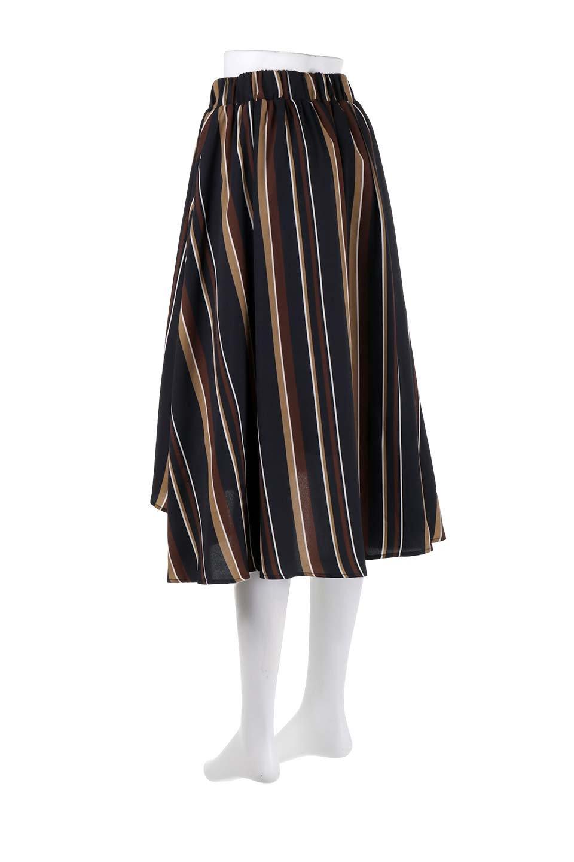 Multi-StripeFlaredSkirtマルチストライプ・スカート大人カジュアルに最適な海外ファッションのothers(その他インポートアイテム)のボトムやスカート。レトロな雰囲気のテールカットスカート。もはや定番人気のマルチストライプのアイテム。/main-18
