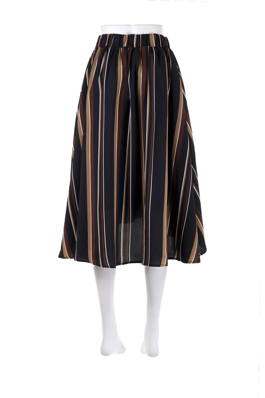 Multi-StripeFlaredSkirtマルチストライプ・スカート大人カジュアルに最適な海外ファッションのothers(その他インポートアイテム)のボトムやスカート。レトロな雰囲気のテールカットスカート。もはや定番人気のマルチストライプのアイテム。/main-19