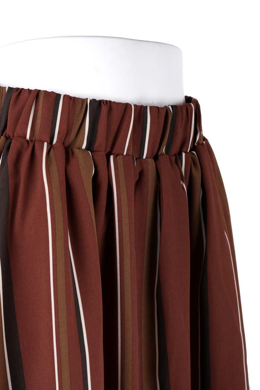 Multi-StripeFlaredSkirtマルチストライプ・スカート大人カジュアルに最適な海外ファッションのothers(その他インポートアイテム)のボトムやスカート。レトロな雰囲気のテールカットスカート。もはや定番人気のマルチストライプのアイテム。/main-5